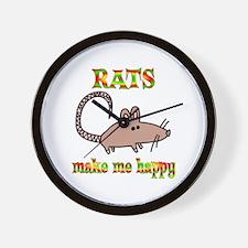 Rats Make Me Happy Wall Clock