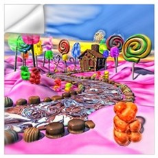 Pink Candyland Wall Art Wall Decal
