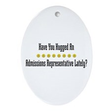 Hugged Admissions Representative Oval Ornament