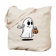 Spooky Halloween Ghost Trick Or Treat Tote Bag
