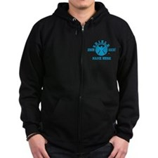 Blue Personalized Junior SHIELD Zip Hoodie