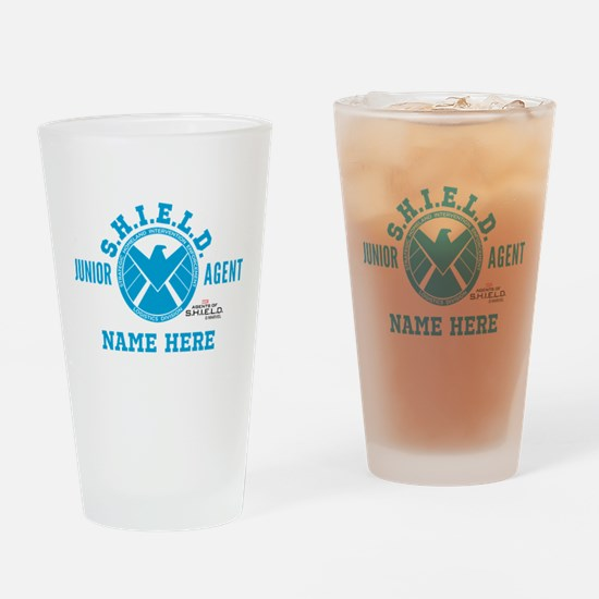 Blue Personalized Junior SHIELD Age Drinking Glass