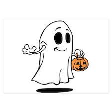 Spooky Halloween ghost Invitations