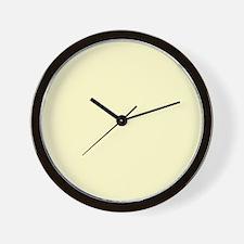 Creamy Calmness Wall Clock