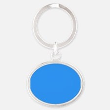 Sky Blue Serenity Oval Keychain