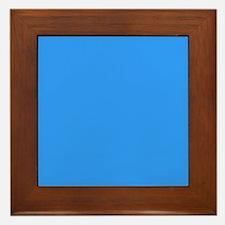 Sky Blue Serenity Framed Tile