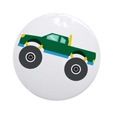 Monster Truck Ornament (Round)