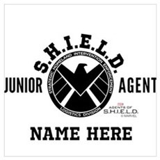 Personalized Junior SHIELD Agent Wall Art Canvas Art