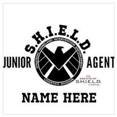 Personalized Junior SHIELD Agent Wall Art Poster