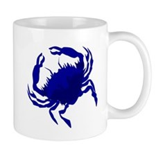 Crab Blue Mugs