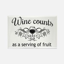 Wine counts as a serving of fruit Magnets