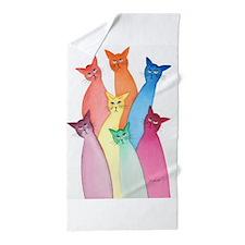 Cute Fun cat lover Beach Towel
