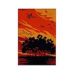 Sunset Rectangle Magnet (100 pack)