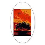 Sunset Oval Sticker