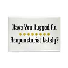 Hugged Acupuncturist Rectangle Magnet (100 pack)