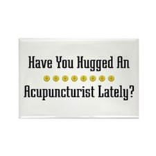 Hugged Acupuncturist Rectangle Magnet