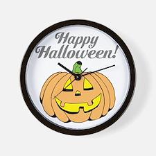 Jack o lantern pumpkin face carving Wall Clock