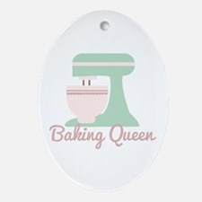 Baking Queen Ornament (Oval)