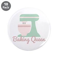 """Baking Queen 3.5"""" Button (10 pack)"""