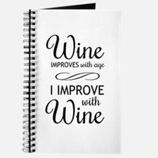 Wine Improves with age I improve with Wine Journal