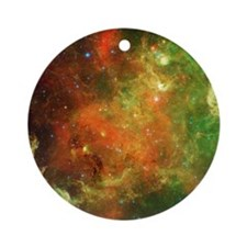 Green Space Dust Ornament (Round)