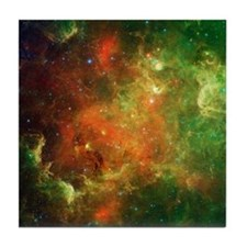 Green Space Dust Tile Coaster