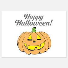 Jack o lantern pumpkin face carving Invitations