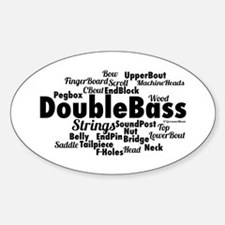 Double Bass Word Cloud Decal