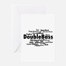 Double Bass Word Cloud Greeting Cards