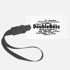 Double Bass Word Cloud Luggage Tag