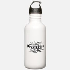 Double Bass Word Cloud Water Bottle