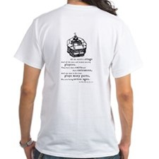 """All the World's a Stage"" White CSC T-Shirt"