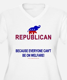 Republican Wmns Plus V-Neck Tee
