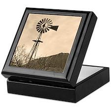Vintage Style Windmill Keepsake Box
