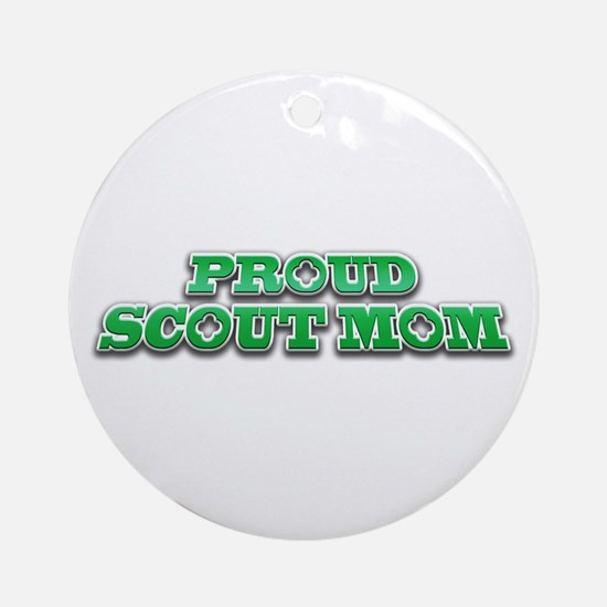Proud Scout Mom Ornament (Round)