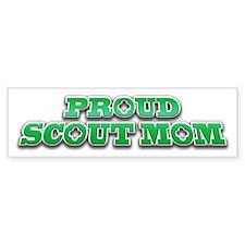 Proud Scout Mom Bumper Car Sticker