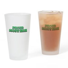 Proud Scout Mom Drinking Glass