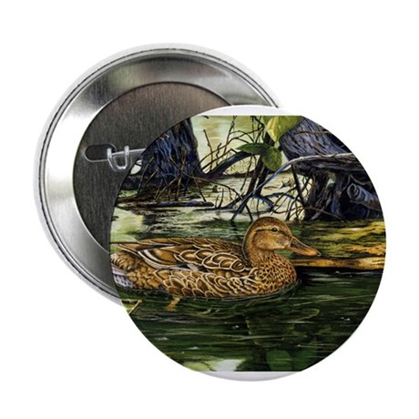 """Mallard on the River 2.25"""" Button (100 pack)"""
