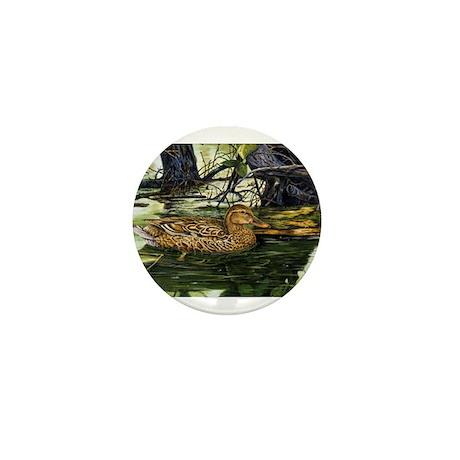 Mallard on the River Mini Button (10 pack)