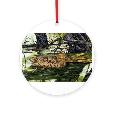 Mallard on the River Ornament (Round)