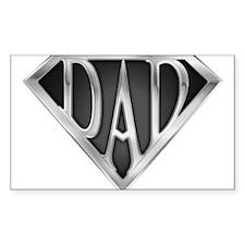 SuperDad - Metal Rectangle Decal