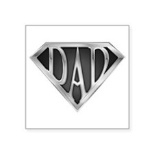SuperDad - Metal Rectangle Sticker