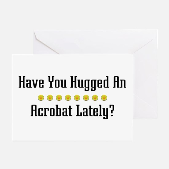 Hugged Acrobat Greeting Cards (Pk of 10)