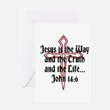 Jesus Is The Way Greeting Cards