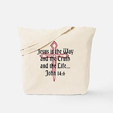 Jesus Is The Way Tote Bag