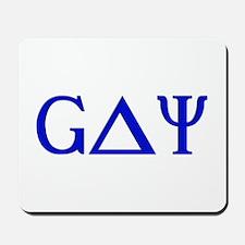 Gay (Greek Letters) Blue Mousepad