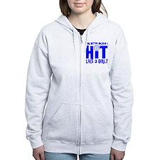 HIT LIKE A GIRL Zip Hoodie
