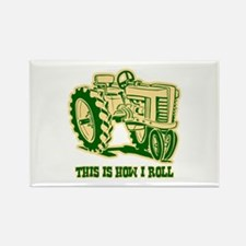 This Is How I Roll Tractor GRN Rectangle Magnet