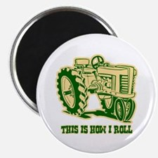 This Is How I Roll Tractor GRN Magnet