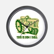 This Is How I Roll Tractor GRN Wall Clock